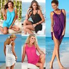 Women's Summer Casual Sleeveless Evening Party Beach Dress Short Mini Dress N98B