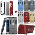 "For Motorola Moto G4 Play 5.0"" Tough Armor Silicone Hybrid Case Cover"