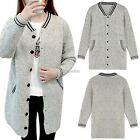 New Fashion Women Casual V-Neck Long Sleeve Knit Long Loose Cardigan Sweater N98