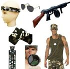 Mens Army Camouflage Soldier Military Fancy Dress Accessories