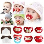 2016 Funny Dummy Dummies Pacifier Novelty Teeth Moustache Baby Child Soother