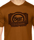 Beer is my Favorite 4 Letter Word, gift for grad, American Apparel T-Shirt 14315
