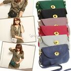 Women Messenger Bag PU Leather Crossbody Satchel Tote Shoulder Handbag Purse Bag
