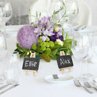 2 - 16 Mini Wooden Cafe Table Number Easel Wedding Place Name Card Holder Stand