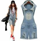 New Fashion Women CASUAL Vintage Overall Jeans Jumpsuit Short Size S/M/L