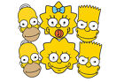 Official THE SIMPSONS card Party Face Masks Choice of Single Mask / Value 6 Pack