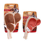 AFP Design-Cute Soft Plush Squeaker BBQ Fun Delicious T-Bone Dog Puppy Toys