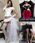 Sexy Ladies Burlesque Petticoat Tutu Long Skirt Party Dance Fancy Dress Costume