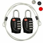 Kyпить Lumintrail 2 Pack TSA Lock Approved Luggage Lock 4 Digit Combination w/ 2 Cables на еВаy.соm