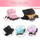 32pcs Fashion Pro Eyebrow Shadow Lip Soft Makeup Brush Set Kit + Pouch Bag Gift