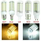 Bright 220V E27 E14 G9 B22 GU10 Bayonet 5730 SMD LED Corn Light Spot Bulb