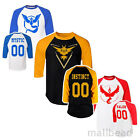 Pokemon Go Team Valor Team Mystic Instinct Pokeball Baseball basketball T shirt