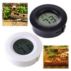 New Black/White Digital Cigar Humidor Hygrometer Thermometer Round Face