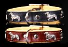 QUALITY GENUINE LEATHER DACHSHUND TECKEL DOG COLLAR HAND STITCHED MADE IN EUROPE