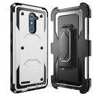 For ZTE Zmax Pro Z981 Slim Hybrid Armor Shockproof Hard Case w/Belt Clip Holster