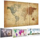 Framed Ready To Hang Canvas Prints Picture Wall Art Painting -World Map US STOCK