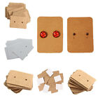 100X Professional Great Earring Ear Studs Holder Display Hang Kraft Cards Paper