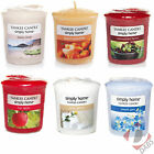 Yankee Candle Wax Votive Sampler Candles Various Fragrances - 15 Hours Burn Time
