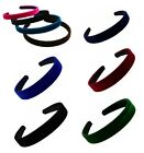 Coloured Velvet Feel Alice Band Hair Headband Various Widths Colours Available