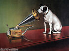 Victrola Dog nipper canvas art card  ACEO