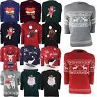 WOMENS LADIES XMAS NOVELTY CHRISTMAS JUMPER SANTA FOX TOP SWEATER BRAVE SOUL