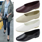 AnnaKastle New Womens Smooth Faux Leather High Cut Ballet Flat US 5 6 7 8