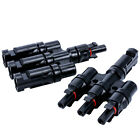 1 Pair Solar Panel MC4 3to1/4to1 T Branch Connectors Cable Coupler Combiner TUV