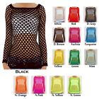 Clearance!!! Sexy 2/3 Sleeve Fishnet Shirt Women Tops Blouse GoGo Dance Wear