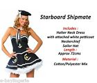 Navy White Sea Sailor Ladies Fancy Dress Costumes Outfit HALLOWEEN Nautical