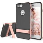 For Apple iPhone 8 7 Plus Slim Fit Hybrid Kickstand Bumper Rubber Case Cover