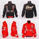 Motorcycle Winter Jacket Budweiser Black Red Racing Superbike Touring Travel New