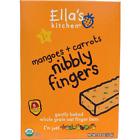 NEW ELLA'S KITCHEN NIBBLY FINGERS MANGOES + CARROTS SNACK BARS DAILY HEALTH CARE