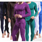 Hot Bamboo Fiber Men's Long Sleeve & Long Johns Thermal Underwear Set Size S M L