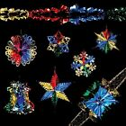 Christmas Foil Ceiling Decorations Garlands Stars Snowflakes – Multi-Colour