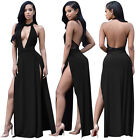 Plus Size Women's Sexy Backless Casual Long Maxi Dress Summer Sundress Clubwear