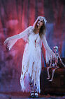 2016 New Womens White Ghost Zombie Bride Costume Halloween Party Fancy Dress Up