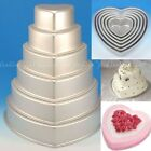 3D 7 Size Heart Shape Cake Bread Pan Pizza Mould Baking  Wedding Birthday Party