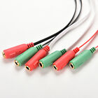 3.5mm AUX Audio Mic Splitter Cable Earphone Adapter male to 2 Female
