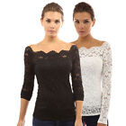 Summer New Fashion Hot Women Long Sleeve T-Shirt Tops Casual Lace Blouse