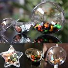 Xmas Ornament Tree Favor Gift Candy Snack Ball Box Transparent Plastic 5 Pcs