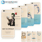 Ultra-thin Silicone Funny Character Prined Soft/Hard Clear Phone Case Cover Skin