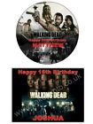 THE WALKING DEAD EDIBLE CAKE or CUPCAKE TOPPERS Icing or Wafer