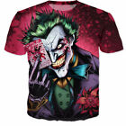 New Womens/Mens Batman The Joker DC Comics Superhero 3D Print T-Shirt US232