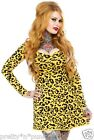 LEOPARD DRESS top skirt 80s psychobilly too fast hot topic hell bunny lucky 13