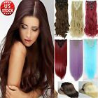 100% Real natural human Synthetic Hair Extensions 18Clips in Hair Extension Q72