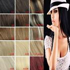 """Tengda 18"""" 100% Real Human Hair Clip In Remy Hair Extensions Blonde 70G 100G"""