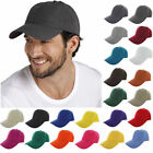 New Plain Solid Washed Cotton Polo Style Baseball Ball Cap Caps Hat Adjustable