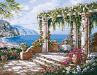 Porch Along The Sea Beautiful Needlepoint Canvas H140