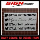 Custom Twitter Decal / Sticker customizable your username user name tweet