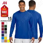 NEW A4 Dry-Fit Running Cooling 100% Polyester Performance Long Sleeve Tee N3165 $10.66 USD on eBay